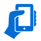 smart phone app icon blue